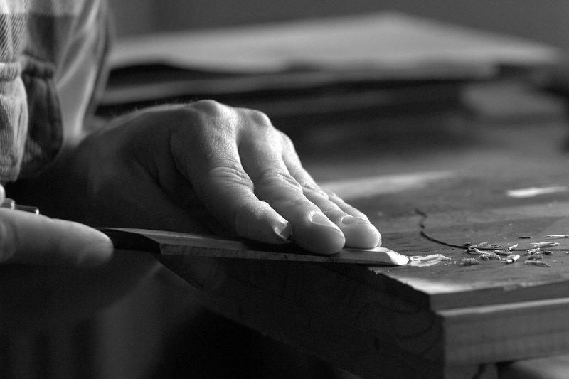 Gravure de la planche de bois